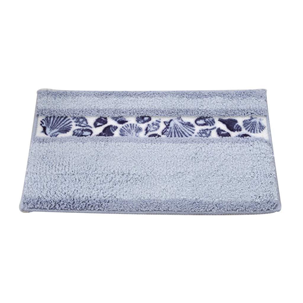 RenShiMinShop Alfombras moquetas Rectangular Textile Bath Mat Entrance Hall baño Sala de Estar Antideslizante ecológico Ventosa Estera Antideslizante (Color : Blue)