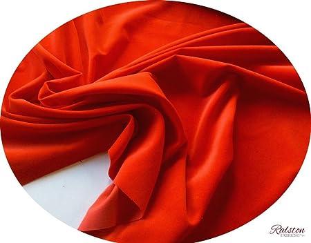 Tela de terciopelo de algodón rojo de confección: Por metro, 240 ...