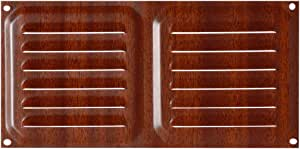Brinox B70230Z Rejilla de ventilación, Madera Oscura, 10 x 20 cm: Amazon.es: Bricolaje y herramientas