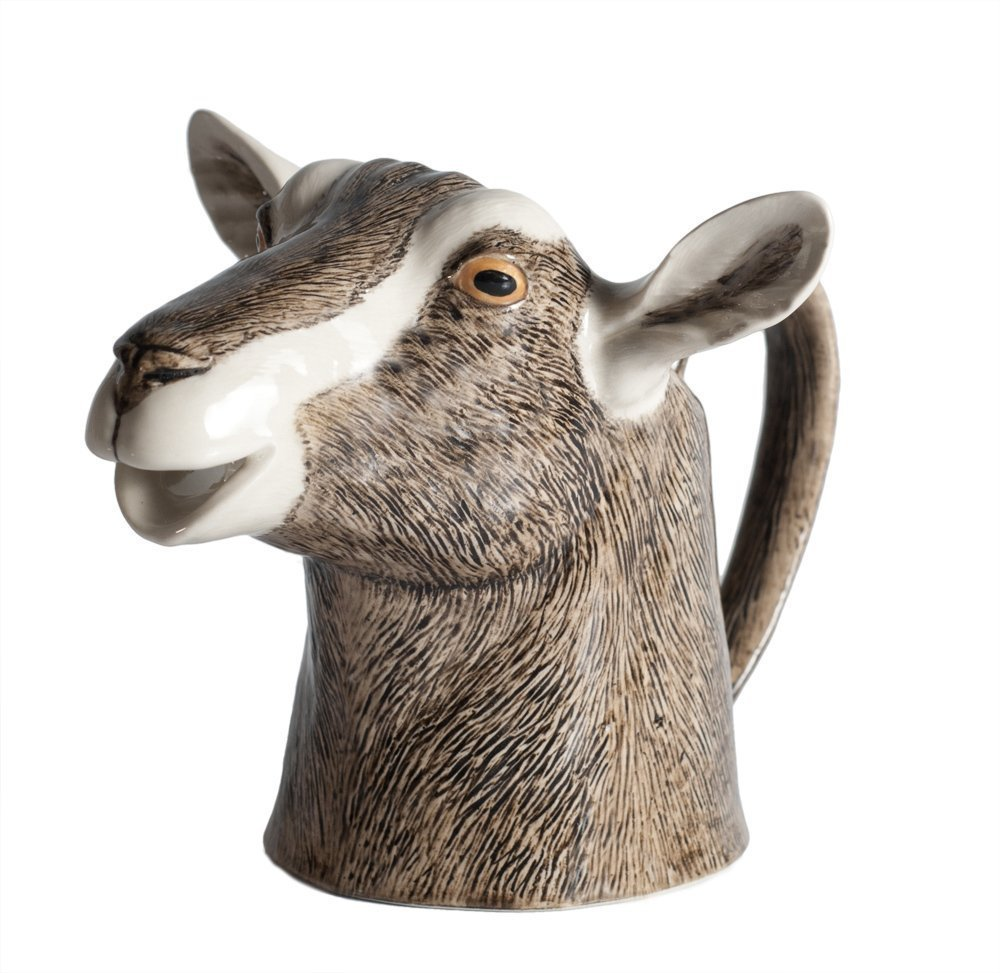 Toggenburg Goats Head Jug Medium Quail Ceramics