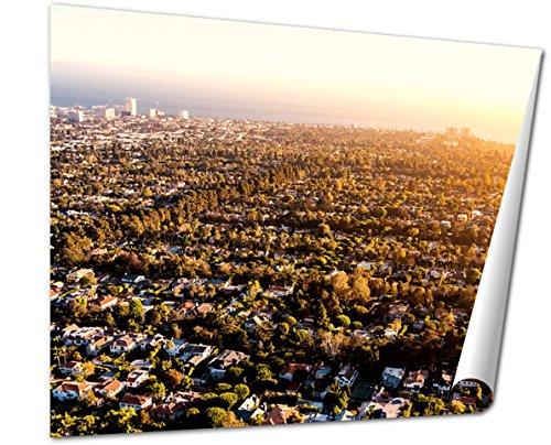 Ashley Giclee Fine Art Print, Aerial View Of Los Angeles Ca Near Century City, 16x20, - Santa City Century Monica