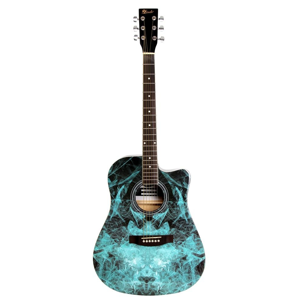 Lindo Blue Fractal Apprentice Series 42C Acoustic Guitar & Gig Bag Lindo Limited 42C_FRAC