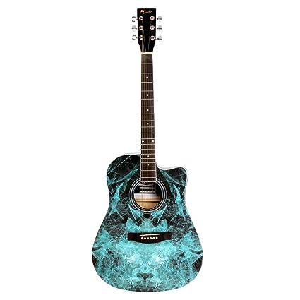 Lindo Guitars 42C FRAC - Guitarra acústica, color azul: Amazon.es: Instrumentos musicales
