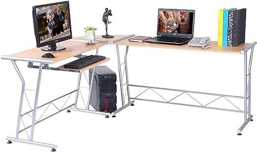 costway L Forma de escritorio – Mesa de escritorio en esquina ...