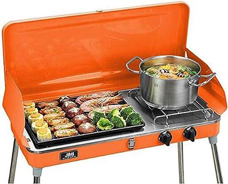 Parrilla de Gas para Barbacoa de propano líquido, Parrilla para Barbacoa al Aire Libre, Cocina, Camping y Estufa portátil de Acero Inoxidable, Color ...