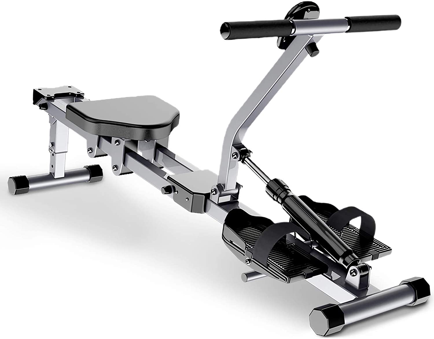 Rowing Machine Full Motion Rower Adjustable Resistance Foldable Cardio Fitness