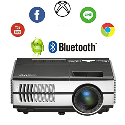 dd4412b6760335 Portable Mini Wireless Projectors LCD Bluetooth HD Home Cinema Video Projector  1500 Lumen Android HDMI Audio