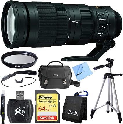 Nikon 200 – 500 mm f/5.6E Ed Vr AF-S Nikkor Zoom lente para cámara