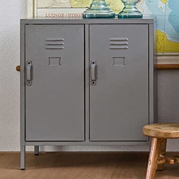 Gut Pharao24 Spindschrank In Grau Metall