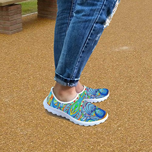 FOR U DESIGNS Fashion Colorful Casual Lightweight Womens Mens Convenient Slip on Walking Running Shoes Color3 LdDjloroq