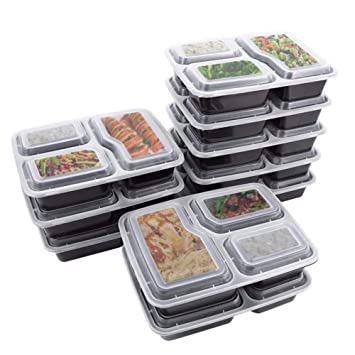 JJPRIME - Flash ventas - 10 x reutilizable 3 compartimentos ...