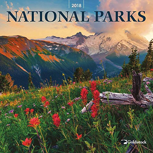 "Goldistock ""National Parks"" Eco-friendly 2018 Large Wall Calendar - 12"" x 24"" (Open) - Thick & Sturdy Paper - Featuring Breathtaking Images of our National Parks"