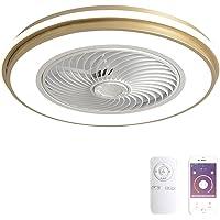 Gouden ronde vorm app-besturing plafondventilator licht stil instelbare windsnelheid plafondlamp met eetkamer woonkamer…