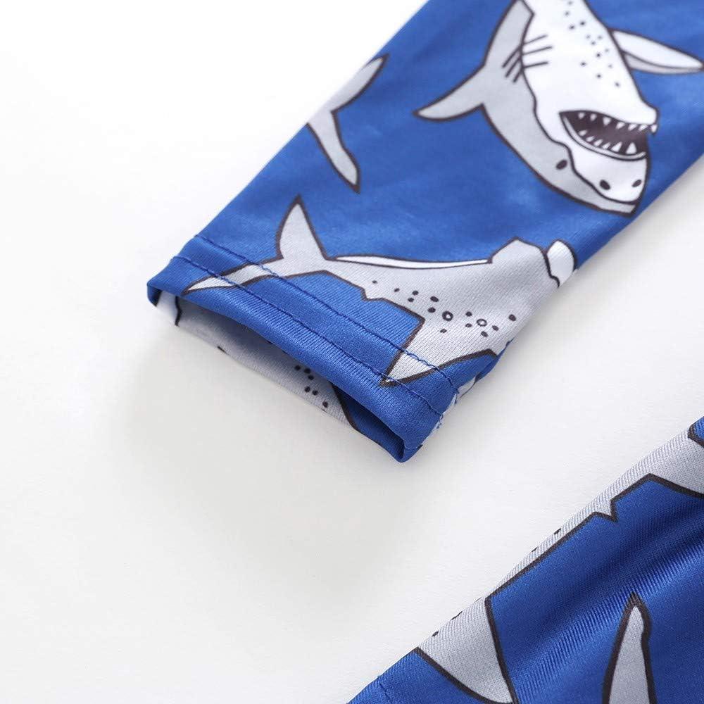 Waymine Kids Girl Long Sleeve Cartoon Whale Cat Lion Cherry Print Dress Clothes