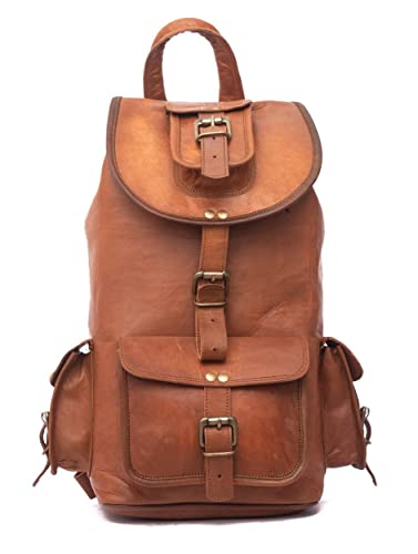 874e16d383 Image Unavailable. Image not available for. Color  Leather Native 16 quot   Genuine Leather Retro Rucksack ...