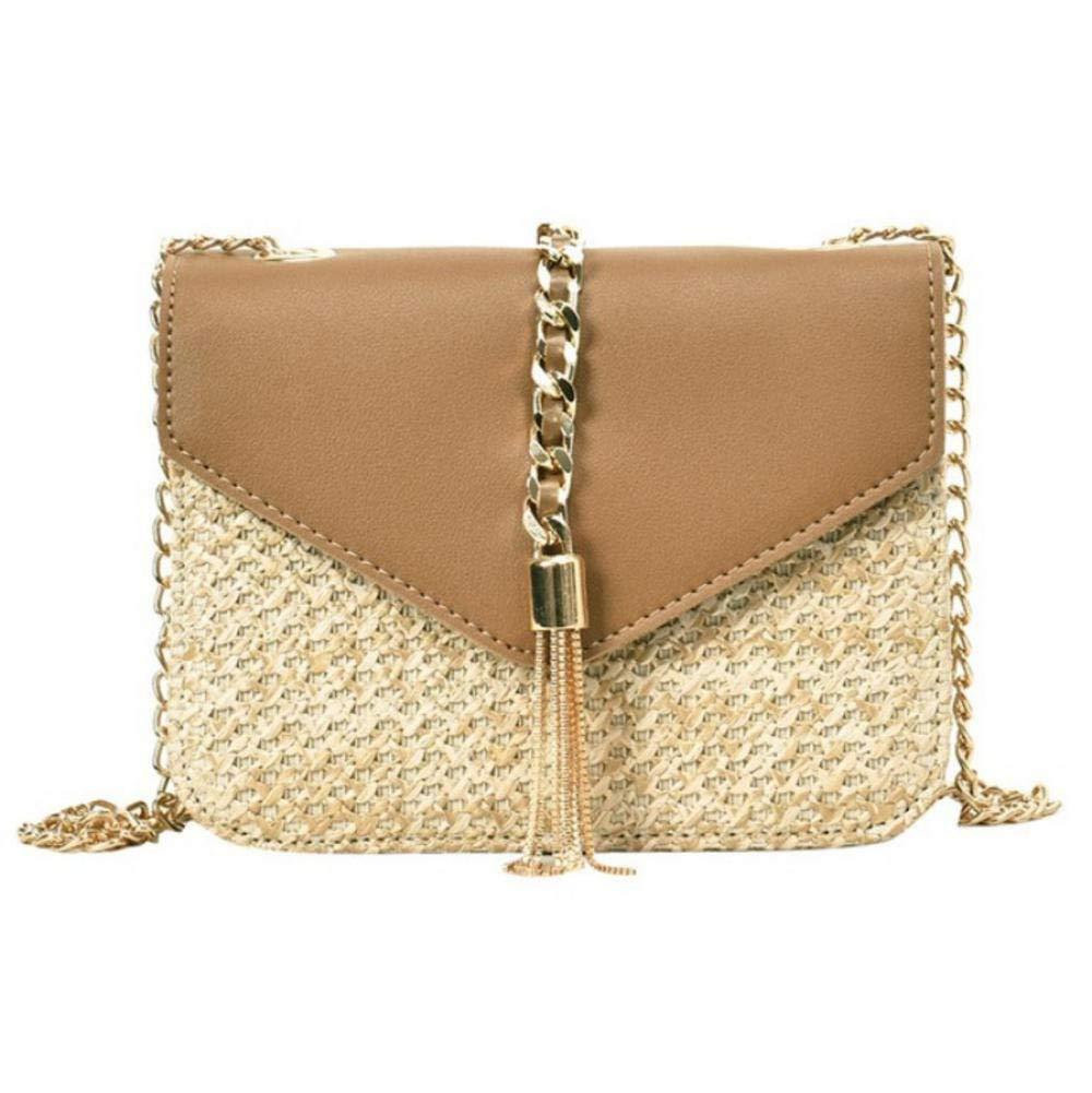 Dwqlx mode halm över kroppen väskor damer sommar messenger axelväskor -1 2