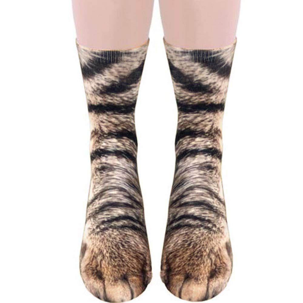 Unisex Fashion Elastic Soft Breathable 3D Printed Animal Foot Claw Hoof Paw Sock
