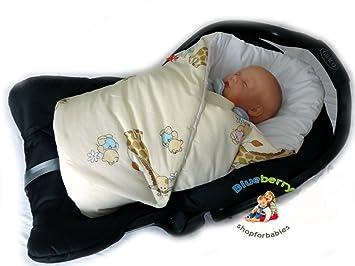 BlueberryShop Luxury Classic For CAR SEAT Swaddle Wrap Blanket Sleeping Bag Newborn Baby Shower GIFT
