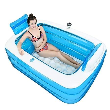 Bañera hinchable plegable portátil para adultos, cómoda ...