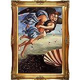 Overstockart Bot2358-Fr-6996G24X36 Botticelli Birth of Venus Left Panel with Victorian Gold Frame, Gold Finish
