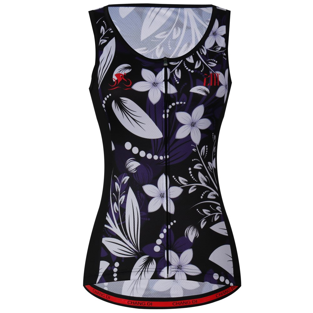 zm Summer Vest Cycling Jersey Sleeveless Black Roses Women Wear Cycling Vest CHUANG DI Apparel co. LTD.