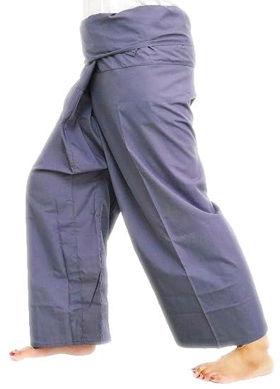 e10e9e3cb43 Amazon.com: Grey Toray - Men Women Thai Fisherman Pants Yoga ...