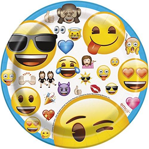 Unique 50603 Emoji Dessert Plates