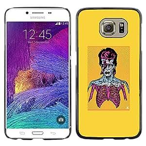 CASER CASES / Samsung Galaxy S6 SM-G920 / Zombie Bowie / Delgado Negro Plástico caso cubierta Shell Armor Funda Case Cover