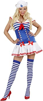 Disfraz de marinero para mujer disfraz marinero traje azul y azul ...