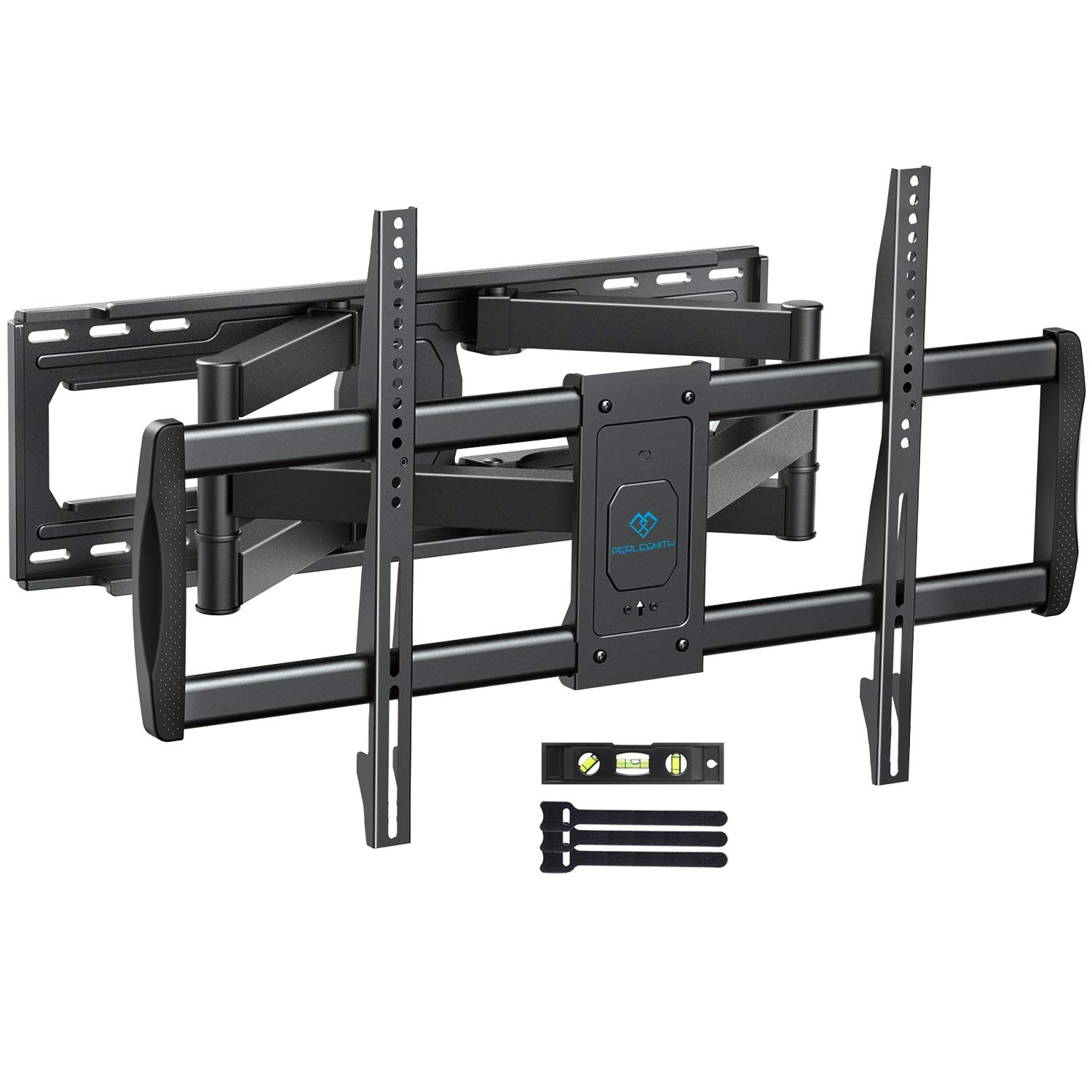 PERLESMITH TV Wall Mount Bracket Full Motion, Tilts, Swivels for most 50-90 Inch LED LCD OLED Flat Screen Plasma TVs with Dual Articulating Arms, Holds up to 165lbs VESA 800x400mm Max Stud Spacing 24'' by PERLESMITH