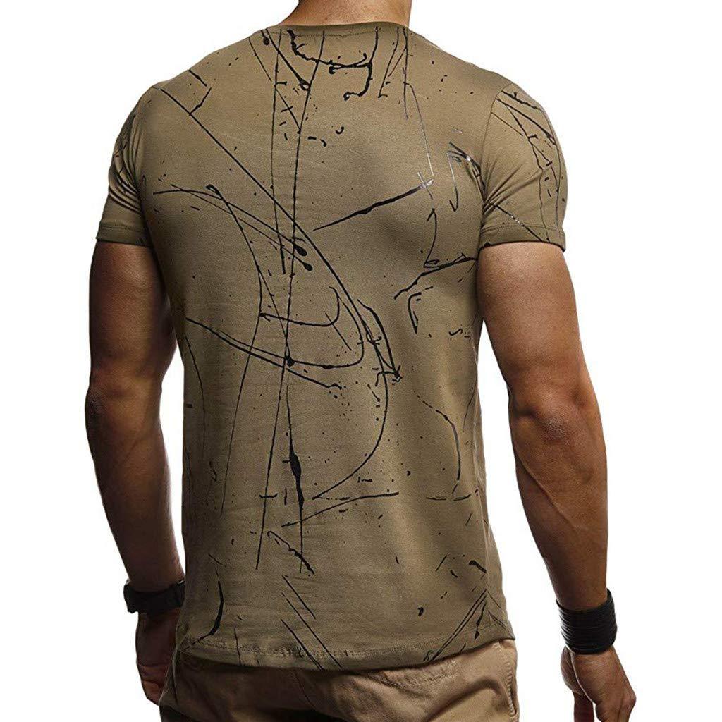 AKwell Men Polo Shirt Casual Slim Splicing Tee Shirt Short Sleeve Dress Shirt Men