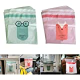 Portable Car Trash Bag Vomiting Bag, Sticky Waste Bags Car Garbage Bags,Removable Trash Can for Auto Car/Office/Babyroom/Stud