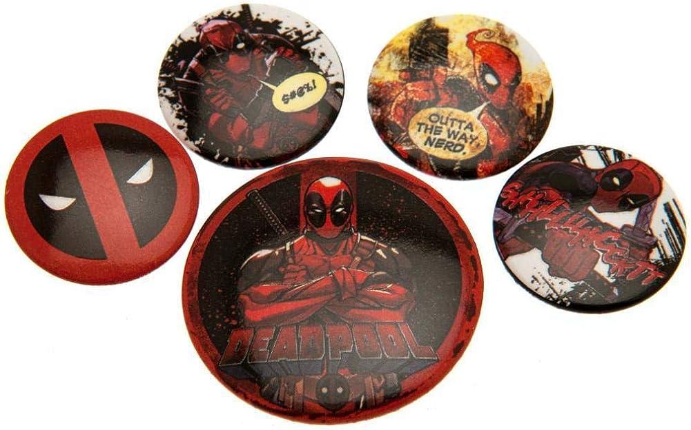Deadpool - Pack de 5 chapas (Talla Única) (Multicolor): Amazon.es: Ropa y accesorios