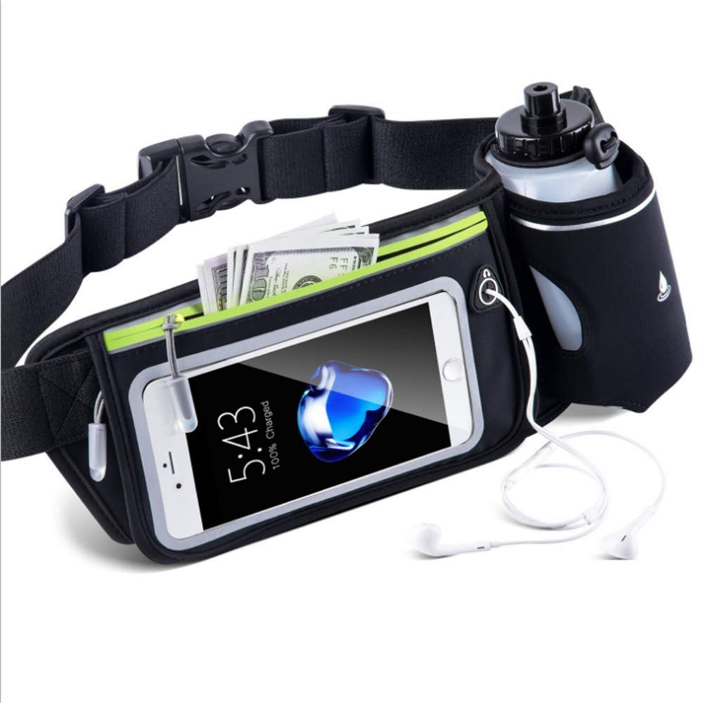 Running belt Waist Bag for Waterproof Waist Pack Best Fitness Gear for Hands-Free Workout Freerunning Reflective Waist Pack Phone Holder Men, Women, Kids Running Movement Accessories