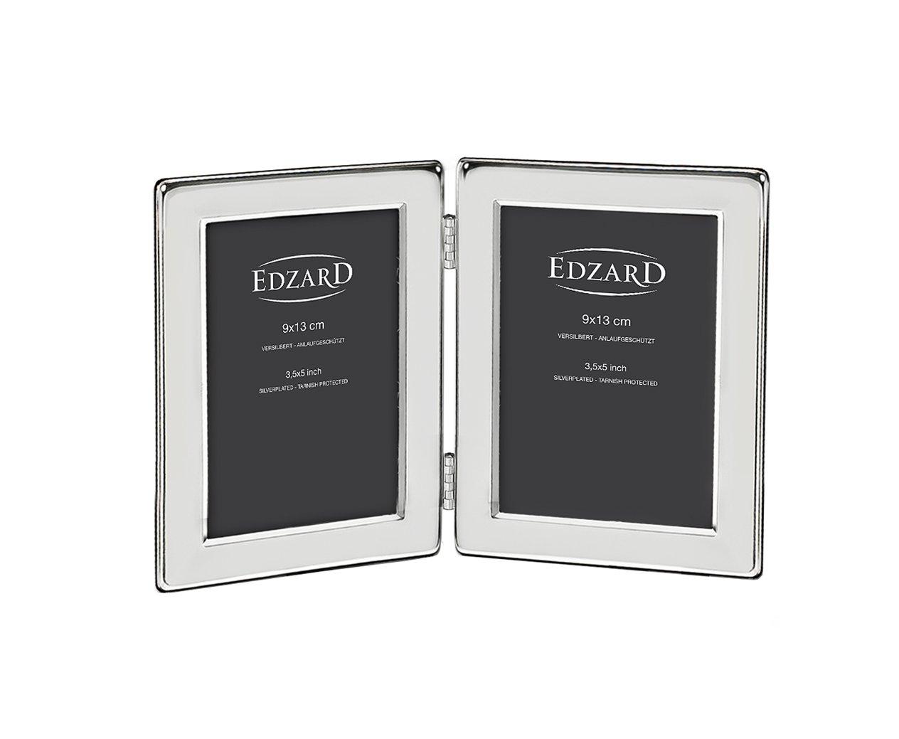 EDZARD Doppel-Fotorahmen Salerno, edel versilbert, anlaufgeschützt ...