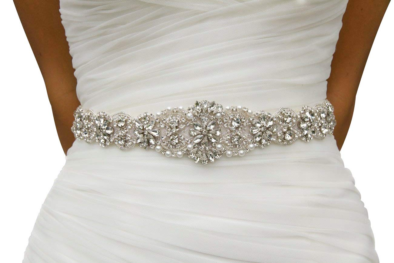 Wedding Dress Rhinestone Sash