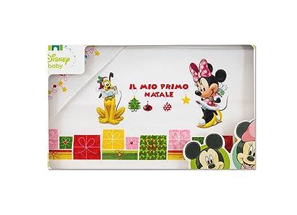 Immagini Natale Disney Baby.Irpot Set Lenzuola Carrozzina Il Mio Primo Natale Disney Ec0252wd Neonato Minnie