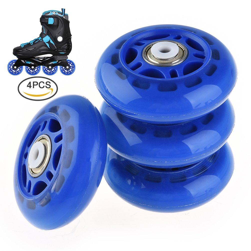 RUNACC Inline Roller Skate Wheels Premium Replacement Rollerblade Wheels with Bearings (B- Set of 4)