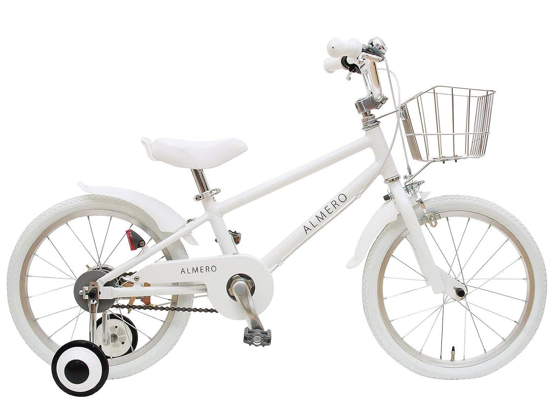 16インチ アルメロ アルミフレーム 子供用自転車  ホワイト B079WRF778