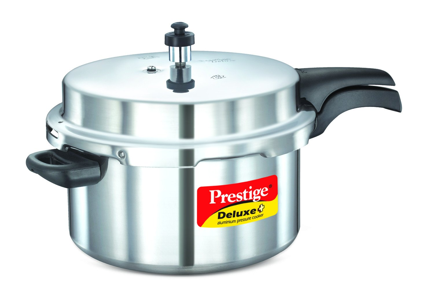 Prestige Deluxe Plus Induction Base Aluminium Pressure Cooker Silver 7.5L