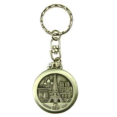 Souvenirs of Paris - Llavero Rojo plata: Amazon.es: Ropa y ...