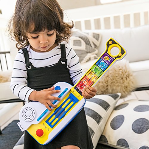 61z7QZCcw9L - Baby Einstein Flip & Riff Keytar Musical Guitar and Piano Toddler Toy with Lights and Melodies, Ages 12 months and up