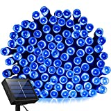Solar Lights Outdoor 72ft 200 LED Fairy Lights, Ambiance lights for Patio, Lawn,Garden, Home, Wedding, Holiday, Christmas, Xmas Tree decoration,waterproof/Timer(Blue)