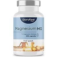 Premium Magnesiumcitraat - Vergelijking Winnaar 2020* - 200 veganistische capsules - 2400mg magnesiumcitraat (360mg…