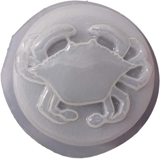 QTY 2   Decorative Round Crab Bar Plaster or Soap Mold 4643 Moldcreations