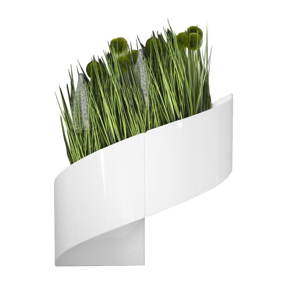 Redesign Store Modern Wall Planter for Indoor and Outdoor Plants, Flowers, Wall and Home Decor - Glossy White - by Redesign Store