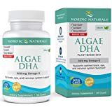 Nordic Naturals Algae DHA - Vegetarian DHA Supplement, Suitable for Vegans, Supports Brain, Eye and Nervous System Function, 90 Soft Gels
