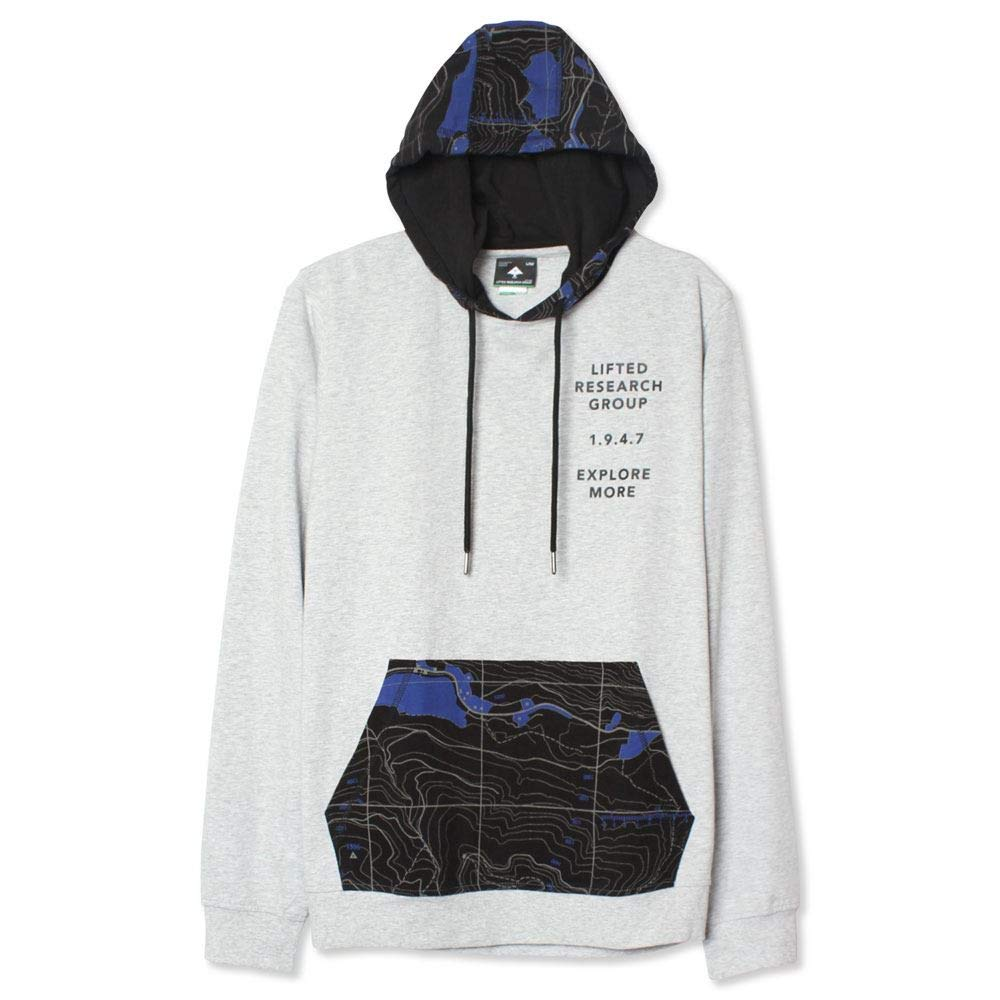 LRG Elevated Topo Pullover Hoodie Ash Heather