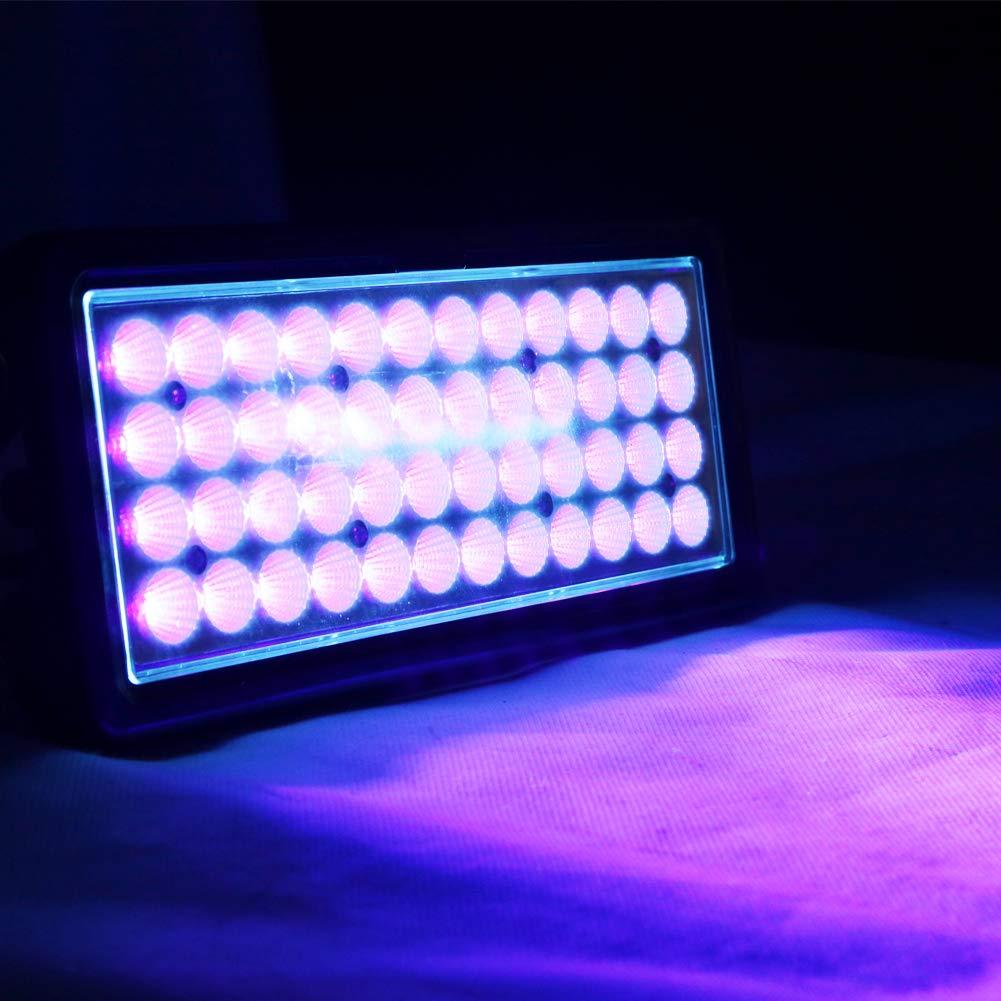 365NM Led UV Gel Curing Lamp Printing Machine Ink Paint Silk Screen Printing Version Ultraviolet Cure Metal Black Light (365nm, 50W)