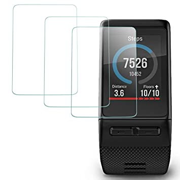 AFUNTA Protector de Pantalla para Garmin Vivoactive HR Reloj Inteligente, 3 Paquetes Vidrio Templado Película Anti: Amazon.es: Electrónica